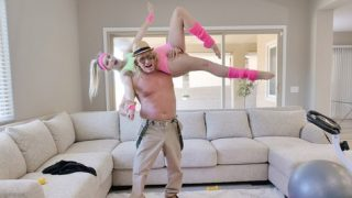 Kenna James works out and fucks her grandpa