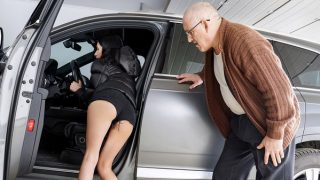 Alyssa Bounty gets car and a cock from step grandpa